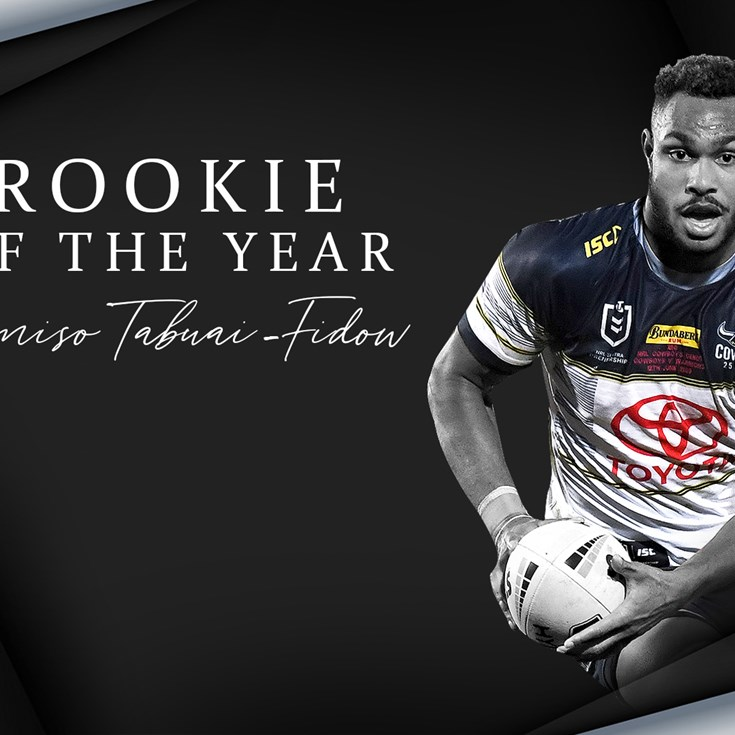 Tabuai-Fidow crowned Rookie of the Year