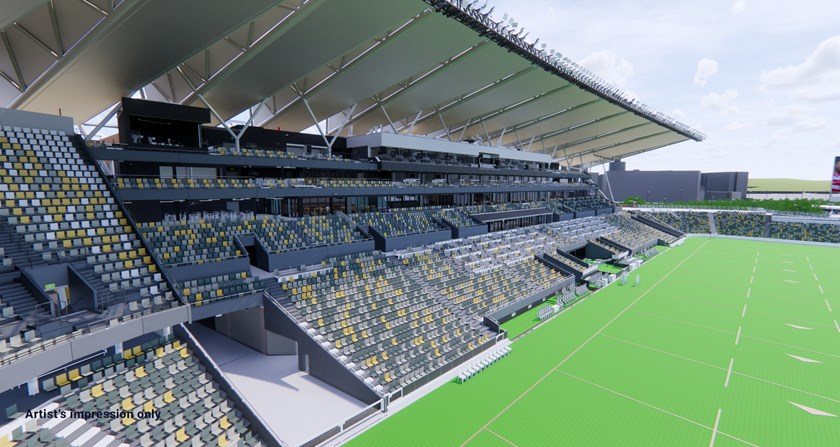SILVER CLUB: View all the point-scoring action from corporate boxes located on level 2 of the Western grandstand between the 20m and dead ball line. Pictured: western grandstand.