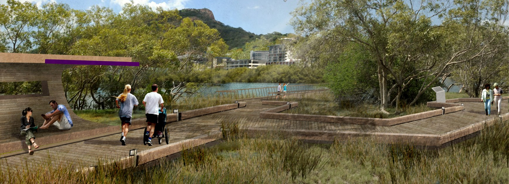 Mangrove boardwalk (artist's impression – courtesy of Townsville City Council)