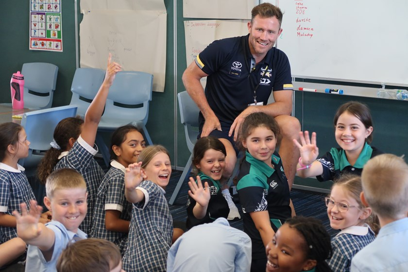 Coops visits the Year 4s at Calvary Christian College
