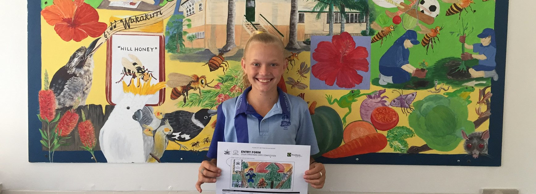First prize winner: Holly from Glenella State School