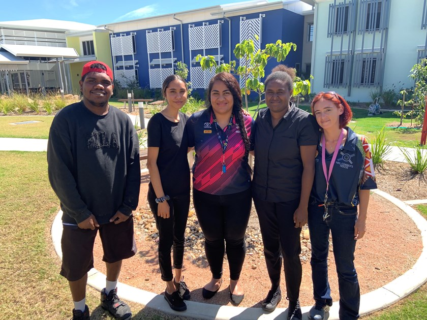 Marian (centre) with Dream, Believe, Achieve students