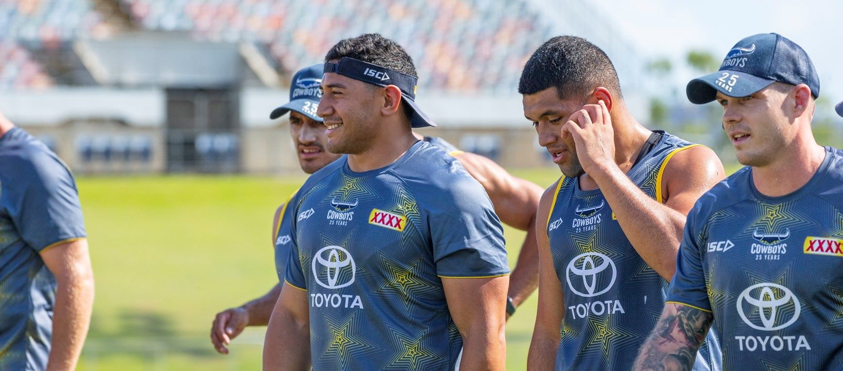 Cowboys' Tongan duo return to training