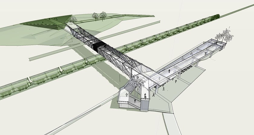 Artist's impression of the Reid Park Active Transport Bridge