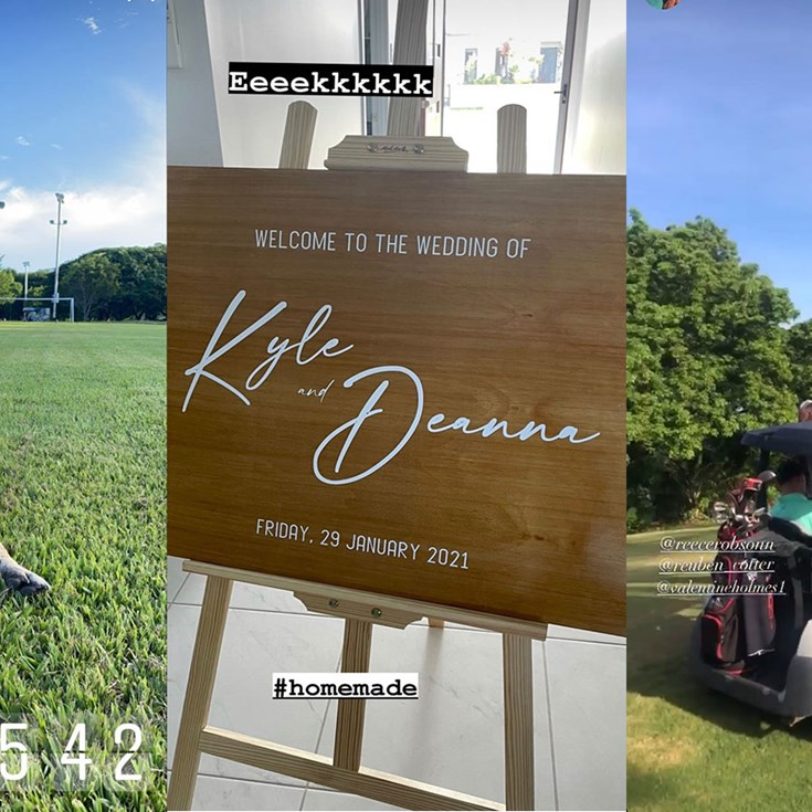 Cowboys on social: Golf & a wedding countdown