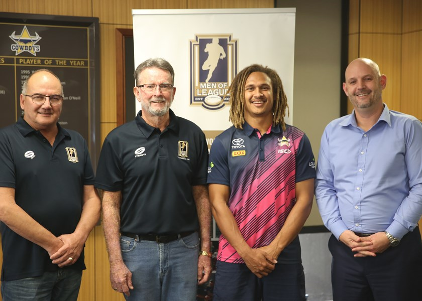 Townsville president Mark, secretary Terry, ambassador Ray and Cowboys CEO Jeff.