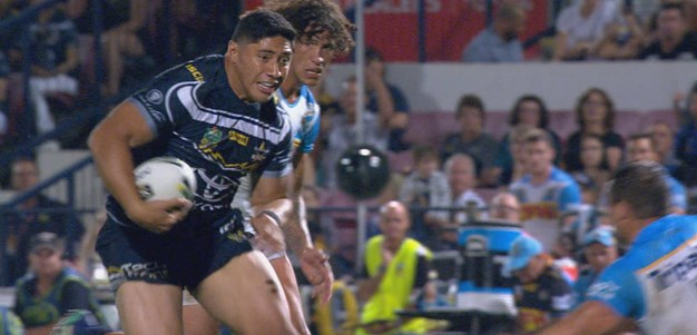 Fancy footwork for a Taumalolo try!
