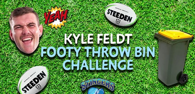 Kyle Feldt Footy Throw Bin Challenge