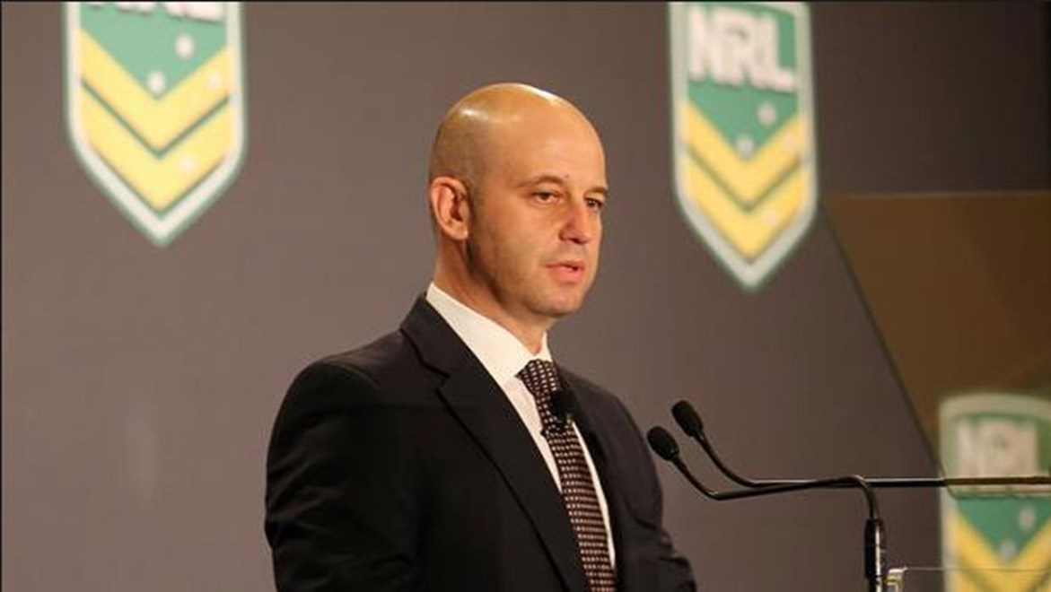 NRL Head of Football Todd Greenberg says interchange reduction will reward fitness and open up the game. Credit: Grant Trouville. Copyright: NRL Photos.