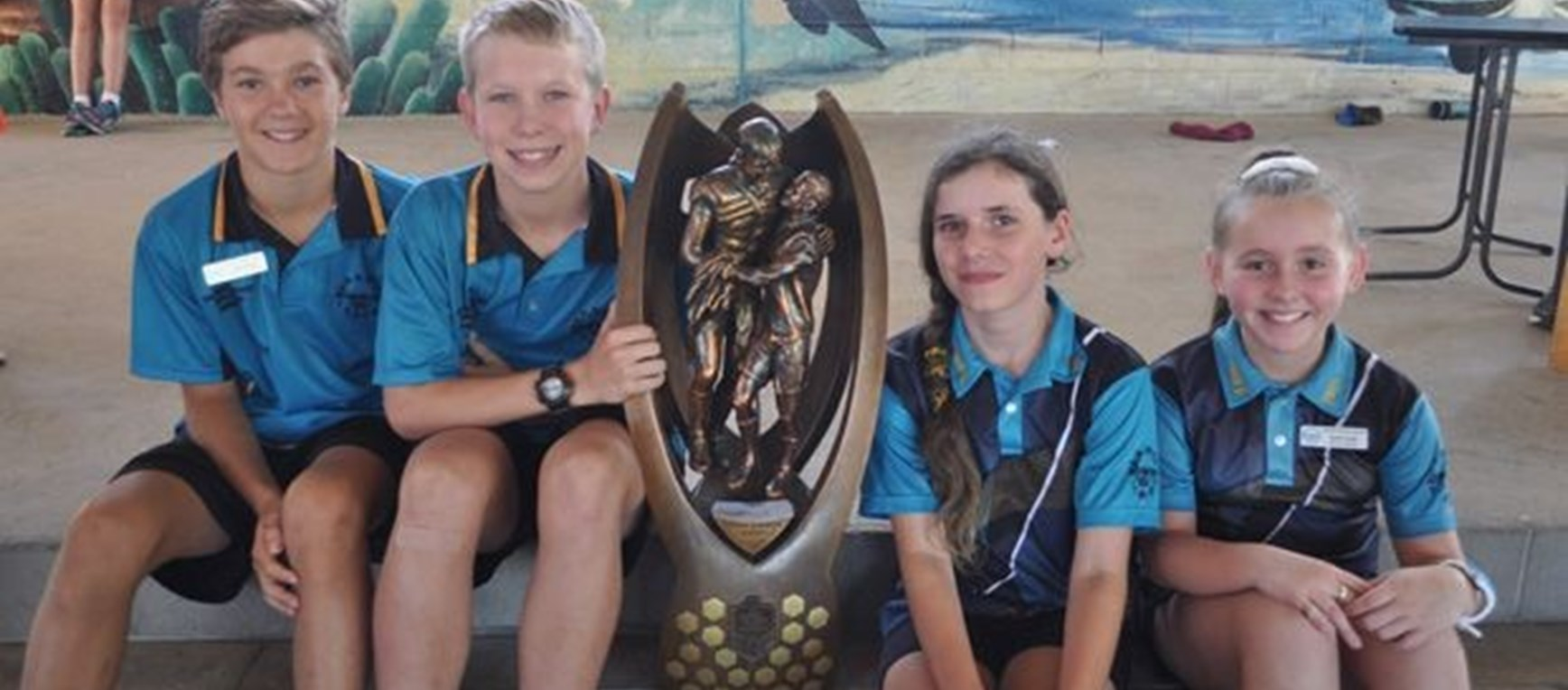 Trophy visits Kirwan State School