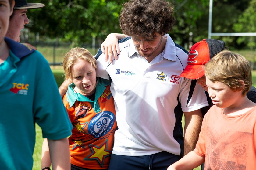 Students from Townsville Community Learning Centre bond with Jake Granville